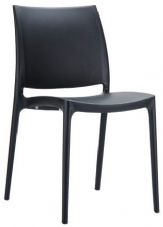 Thermo Plastic Maya Stacking Chair - Black